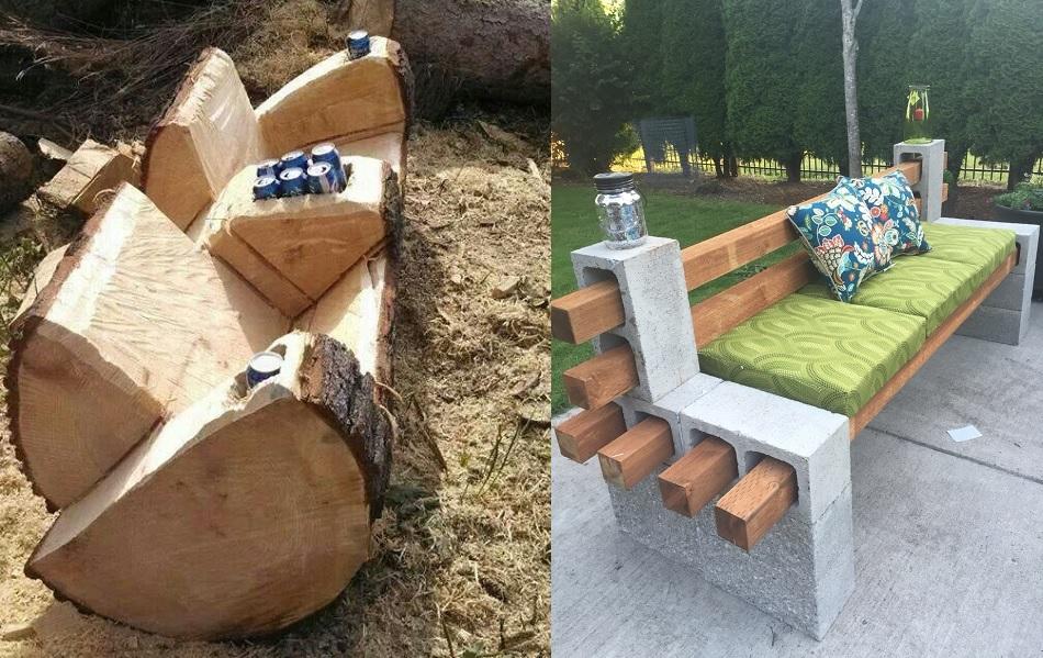 Inspiracje #1 Kreatywna, prosta i tania kanapa ogrodowa